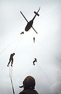 Special Force, April 1982. Special Force Training for hellicopter evacuation.