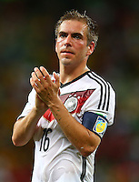 Philipp Lahm of Germany applauds the fans at full time