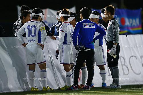 Japan team group (JPN), NOVEMBER 18, 2014 - Football 5-a-sider : IBSA Blind Football World Championships 2014 Group A match between Japan 0-0 Morocco at National Yoyogi Stadium Futsal Court, Tokyo, Japan. [1180]