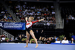 21 APR 2012:  Jaime Pisani of the University of Arkansas performs her floor routine during the Division I Women's Gymnastics Championship held at the Gwinnett Center Arena in Duluth, GA. Joshua Duplechian/NCAA Photos