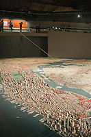 The Panorama of the City of New York, originally made for the 1964 Worlds Fair in the Queens Museum of Art, formerly the NYC Pavilion, in Flushing Meadows Park in Queens in New York seen on Sunday, March 18, 2012.  (© Richard B. Levine)