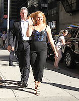 NEW YORK, NY-August 22: Amy Schumer at the Late Show with Stephen Colbert to talk about her  new book The Girl with the Lower Back Tattoo in New York. August 22, 2016. Credit:RW/MediaPunch