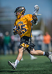 16 April 2016: University of Maryland, Baltimore County Retriever Attacker Nate Lewnes, a Senior from Arnold, MD, in action against the University of Vermont Catamounts at Virtue Field in Burlington, Vermont. The Retrievers fell to the Catamounts 14-10 in NCAA Division I play. Mandatory Credit: Ed Wolfstein Photo *** RAW (NEF) Image File Available ***
