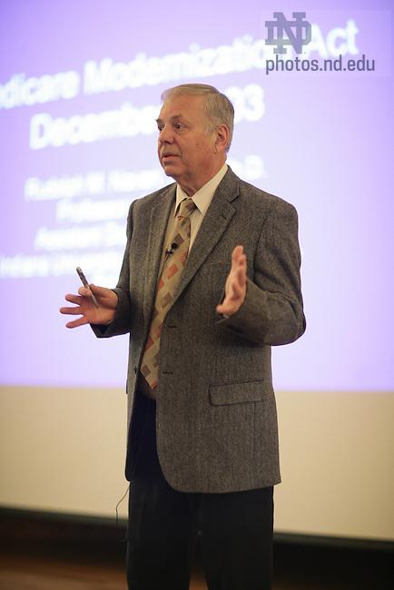 Dr. Rudy Navari, director of the IU School of Medicine-South Bend..Photo by Matt Cashore