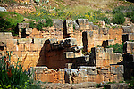 Africa, Morocco, Rabat. The Chellah necropolis ruins.