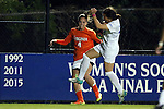 15 October 2016: Virginia's Meghan Cox (4) has her cross blocked by Duke's Christina Gibbons (in white). The Duke University Blue Devils hosted the University of Virginia Cavaliers at Koskinen Stadium in Durham, North Carolina in a 2016 NCAA Division I Women's Soccer match. Duke won the game 1-0.