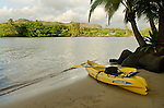 Kayaking the Wailua River, Kauai, Hawaii