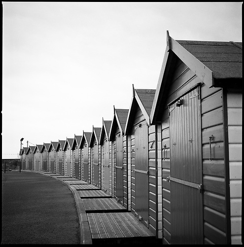 Beach Huts II, Dawlish Warren, Devon, 2010 by Paul Cooklin