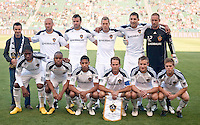 LA Galaxy starting eleven. The LA Galaxy defeated Boca Juniors 1-0 at Home Depot Center stadium in Carson, California on Sunday May 23, 2010.  .