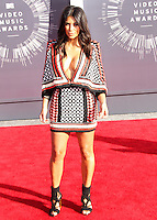 LOS ANGELES, CA, USA - AUGUST 24: Kim Kardashian arrives at the 2014 MTV Video Music Awards held at The Forum on August 24, 2014 in the Los Angeles, California, United States. (Photo by Xavier Collin/Celebrity Monitor)