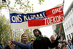 350 Day of Actionin Amsterdam, October 24, 2009, Museumplein. Hundreds of people formed a '350 NU' to demand world leaders commit to a 350 ppm target in Copenhagen. This action was part of over 4600 actions across the globe on October 24, 2009, all calling for a target of 350ppm.