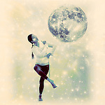 Photo illustration of a full moon dancer.