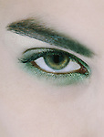 Green eye close-up