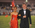 Senior maid Tori Blackbourn (left) with escort Nicholas Smith at Lafayette High vs. Tunica Rosa Fort in Oxford, Miss. on Friday, October 5, 2012. Lafayette High won 35-6.