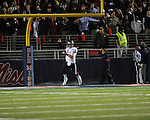 Ole Miss vs. Texas A&amp;M quarterback Johnny Manziel celebrates his touchdown run at Vaught-Hemingway Stadium in Oxford, Miss. on Saturday, October 6, 2012. Texas A&amp;M rallied from a 27-17 4th quarter deficit to win 30-27.