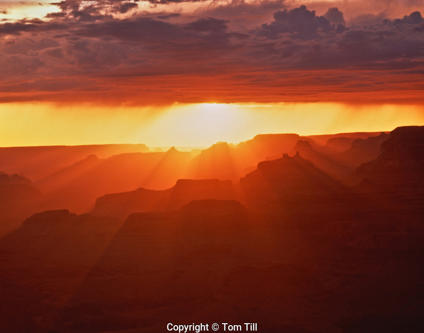 Grand Canyon Sunset, Grand Canyon National Park, Arizona  Seen from Desert View Colorado River