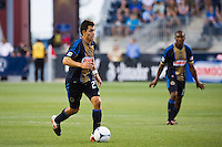 Michael Farfan (21) of the Philadelphia Union. Sporting Kansas City defeated the Philadelphia Union 2-0 during the semifinals of the 2012 Lamar Hunt US Open Cup at PPL Park in Chester, PA, on July 11, 2012.