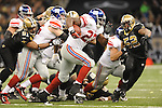 New Orleans Saints vs. New York Giants Brandon Jacobs (27) at the Superdome in New Orleans, La. on Monday, November 28, 2011. New Orleans won 49-24.
