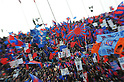 FCFC Tokyo fans, JANUARY 1, 2012 - Football / Soccer : The artistic shot 91st Emperor's Cup final match between Kyoto Sanga F.C. 2-4 F.C.Tokyo at National Stadium in Tokyo, Japan. (Photo by Takahisa Hirano/AFLO)