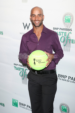 Tennis player James Blake attends the 13th Annual 'BNP Paribas Taste of Tennis' at the W New York.  New York City, August 23, 2012. © Diego Corredor/MediaPunch Inc.