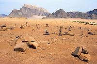 Jordan. Wadi Rum. The Wadi Rum is a large, beautiful and deserted area. © 2002 Didier Ruef