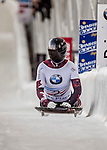 8 January 2016: Elisabeth Vathje, competing for Canada, completes her second run of the BMW IBSF World Cup Skeleton race with a combined 2-run time of 1:51.95, earning a 12th place finish for the day at the Olympic Sports Track in Lake Placid, New York, USA. Mandatory Credit: Ed Wolfstein Photo *** RAW (NEF) Image File Available ***