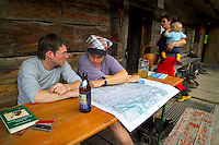 Berchtesgaden National Park, Bavavia, Germany, July 2004. The wasseralm hut.  We are trekking  from hut to hut in the Bavarian mountains of Berchtesgaden. Photo by Frits Meyst/Adventure4ever.com