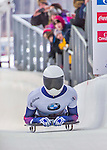 9 January 2016: Matthew Antoine, competing for the United States of America, crosses the finish line on his second run of the day during the BMW IBSF World Cup Skeleton Championships at the Olympic Sports Track in Lake Placid, New York, USA. Antoine ended the day with a combined 2-run time of 1:49.91 and a 5th place overall finish. Mandatory Credit: Ed Wolfstein Photo *** RAW (NEF) Image File Available ***