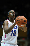 17 February 2013: Duke's Chelsea Gray. The Duke University Blue Devils played the Wake Forest University Demon Deacons at Cameron Indoor Stadium in Durham, North Carolina in a 2012-2013 NCAA Division I and Atlantic Coast Conference women's college basketball game. Duke won 81-70.
