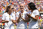 16 August 2015: Kelley O'Hara (USA) (5), Becky Sauerbrunn (USA) (4), and Syndney Leroux (USA) (2). The United States Women's National Team played the Costa Rica Women's National Team at Heinz Field in Pittsburgh, Pennsylvania in an women's international friendly soccer game. The U.S. won the game 8-0.