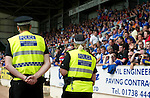 St Johnstone v Rangers... 30.07.11   SPL Week 2.Police from the Anti-Sectarian Initiative keep watch on the Rangers fans.Picture by Graeme Hart..Copyright Perthshire Picture Agency.Tel: 01738 623350  Mobile: 07990 594431