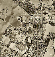 historical aerial photograph Stanford University 1948