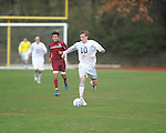 Oxford High's Edward terry (10) vs. Horn Lake in boys high school soccer action in Oxford, Miss on Saturday, January 12, 2013. Oxford won.