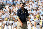 08 November 2008: Georgia Tech head coach Paul Johnson. The University of North Carolina Tarheels defeated the Georgia Tech University Yellow Jackets 28-7 at Kenan Stadium in Chapel Hill, NC in an NCAA Division I and Atlantic Coast Conference football game.