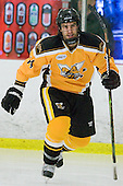 Steve McLeod (AIC - 14) - The visiting American International College Yellow Jackets defeated the Bentley University Falcons 5-1 on Saturday, February 12, 2011, at John A. Ryan Skating Arena in Watertown, Massachusetts.