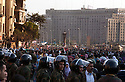 The Egyptian military looks on as Egyptians continue to celebrate in Tahrir Square February 12, 2011 in Cairo, Egypt. The day after the revolution toppled the regime of President Hosni Mubarak, Egyptians continued to celebrate and began to focus on rebuilding their country and society. .(Photo by Scott Nelson)