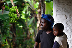 Imaculador Dupres lives in Despagne, a rural village in southern Haiti where the Lutheran World Federation has been working with residents to improve their quality of life. Here she holds her son Jefte.