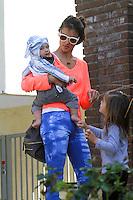 Alessandra Ambrosio with her son, Noah Phoenix Ambrosio Mazur - Los Angeles