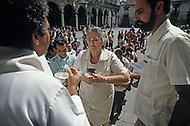February 22, 1986. Havana, Cuba. The secretery of Diosis of Cuba, Florencia De La Senna, is also the cousin of Che Guevara.