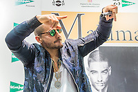 Maluma signing records in Madrid
