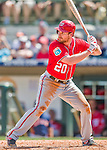15 March 2016: Washington Nationals infielder Daniel Murphy in action during a Spring Training pre-season game against the Houston Astros at Osceola County Stadium in Kissimmee, Florida. The Nationals defeated the Astros 6-4 in Grapefruit League play. Mandatory Credit: Ed Wolfstein Photo *** RAW (NEF) Image File Available ***