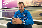 FC Luzern v St Johnstone...16.07.14  Europa League 2nd Round Qualifier<br /> Dave Mackay waits to board the plane at Edinburgh heading for Basel in Switzerland ahead of tomorrow's game against FC Luzern<br /> Picture by Graeme Hart.<br /> Copyright Perthshire Picture Agency<br /> Tel: 01738 623350  Mobile: 07990 594431