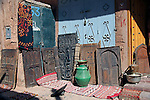 Africa, Morocco, Ouarzazate. Berber Doors of Ouarzazate.