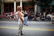 Hopscotchn' hula hoopers on East Hargett Street during the Hopscotch Music Festival in Raleigh, N.C., Sat., Sept. 11, 2010.