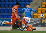 St Johnstone v Kilmarnock.....28.02.15<br /> Michael O'Halloran is brought down by Darryl Westlake<br /> Picture by Graeme Hart.<br /> Copyright Perthshire Picture Agency<br /> Tel: 01738 623350  Mobile: 07990 594431