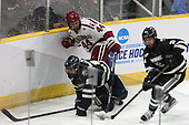 Jake Walman (PC - 19), Michael Floodstrand (Harvard - 44), Spencer Young (PC - 21) - The Harvard University Crimson defeated the Providence College Friars 3-0 in their NCAA East regional semi-final on Friday, March 24, 2017, at Dunkin' Donuts Center in Providence, Rhode Island.