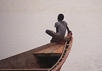Child on a boat at Sengal river