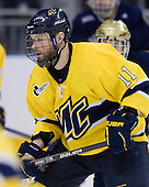 Elliott Sheen (Merrimack - 11) - The University of Notre Dame Fighting Irish defeated the Merrimack College Warriors 4-3 in overtime in their NCAA Northeast Regional Semi-Final on Saturday, March 26, 2011, at Verizon Wireless Arena in Manchester, New Hampshire.