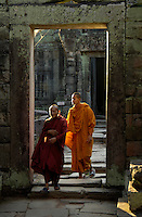 Budhist Monks at Temple