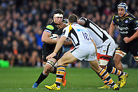 Francois Louw of Bath Rugby takes on the Wasps defence. European Rugby Champions Cup match, between Bath Rugby and Wasps on December 19, 2015 at the Recreation Ground in Bath, England. Photo by: Patrick Khachfe / Onside Images